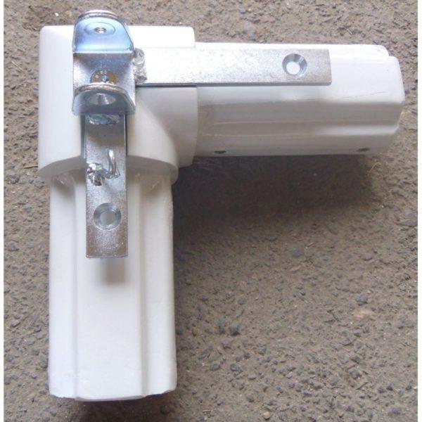 Narożnik bramki 7,32x2,44 uzbrojony- biały