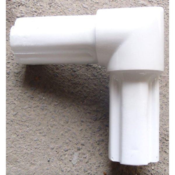 Narożnik bramki 7,32x2,44 nieuzbrojony- biały