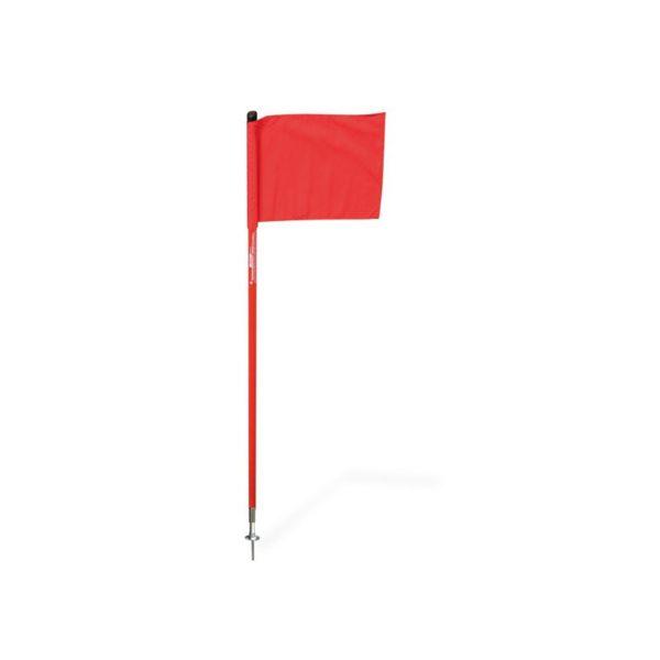 Chorągiewka narożna uchylna fi 25 mm ze szpilką czerwona