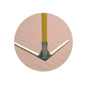 Podstawa aluminiowa bramki plażowej (na jedną bramkę)