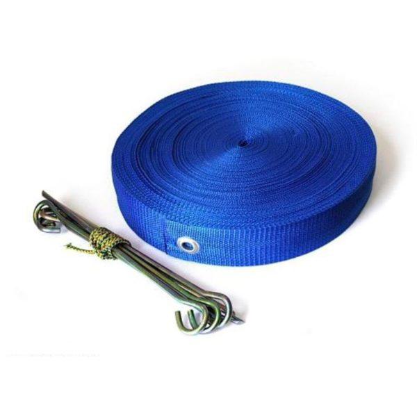 Linie pola do siatkówki plażowej niebieskie