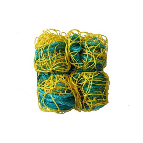 Siatka do piłki ręcznej PE 4 mm 3x2x1,5 m żółto-niebieska