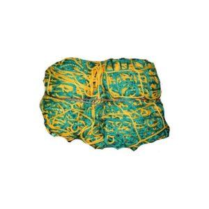 Siatka do piłki ręcznej 3x2, PP 4 mm, gł. 1/1,5 m zielono-żółta