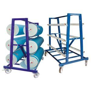 Wózek na wykładziny 1,5 m - 6 rolek (fi) 40 cm