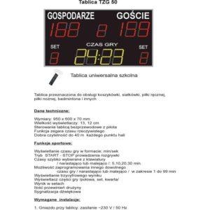 Elektroniczna tablica wyników TZG50