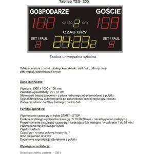 Elektroniczna tablica wyników TZG200