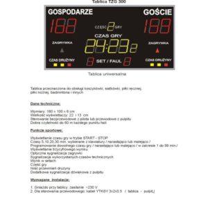 Elektroniczna tablica wyników TZG300