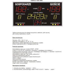 Elektroniczna tablica wyników TZG500