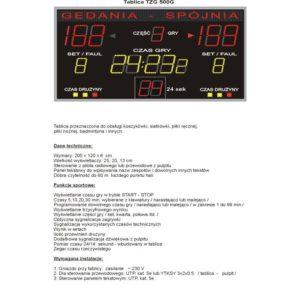 Elektroniczna tablica wyników TZG500G