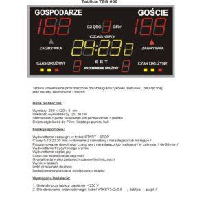 Elektroniczna tablica wyników TZG600