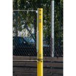 Słupki aluminiowe, uniwersalne, z regulacją wysokości, bez tulei, kolor żółty