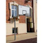 Stojak do koszykówki jednosłupowy cynkowany 1,6 m, rura kwadrat 90 mm