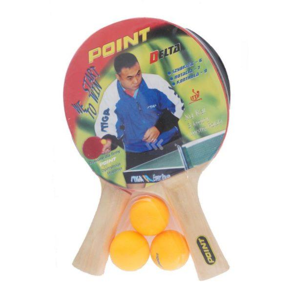 Rakietka do tenisa stołowego POINT DELTA- ZESTAW