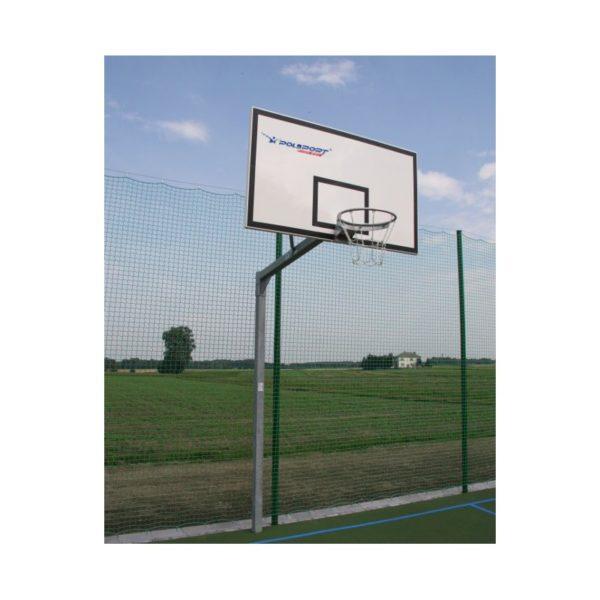 Stojak do koszykówki jednosłupowy cynkowany, wysięgnik o dł. 1,2m rura kwadrat 90mm