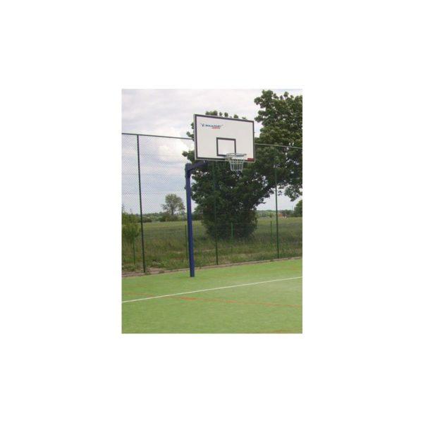 Stojak do koszykówki jednosłupowy, wysięgnik 1,6 m rura kwadrat 90mm, malowany i cynkowany