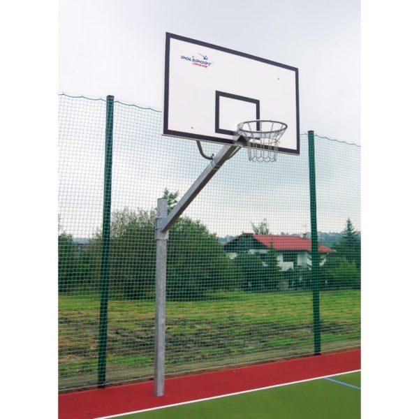 Stojak do koszykówki jednosłupowy cynkowany, wysięgnik 1,6 m, rura kwadrat 100x100x3