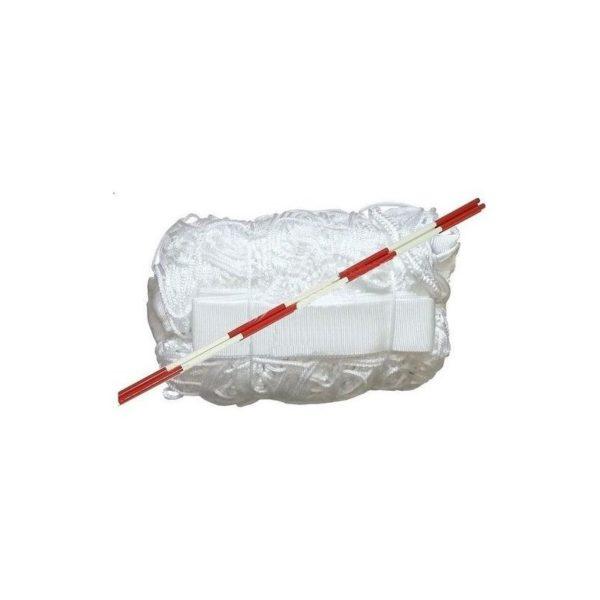 Siatka do siatkówki z antenką, biała, obszycie cztery boki, 9,5x1m SI-AB/IV