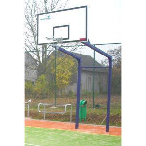 Stojak do koszykówki dwusłupowy 1,6 m, cynkowany i malowany, rura kwadrat 90 mm