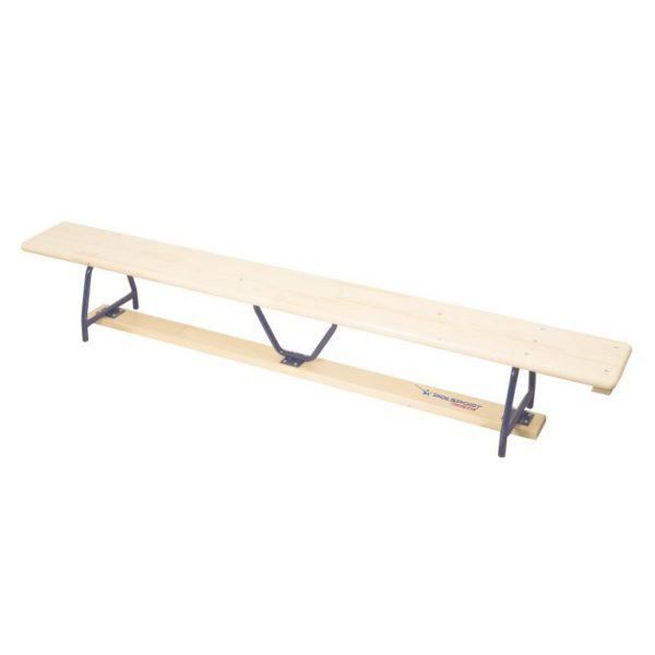 Ławka gimnastyczna 2,5 m, nogi metalowe