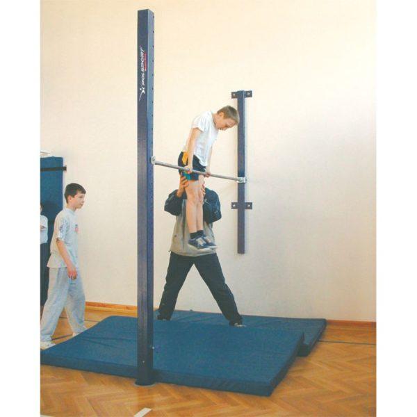 Drążek gimnastyczny przyścienny Fi 28x2300 z dociskiem 2-płaszczyznowym