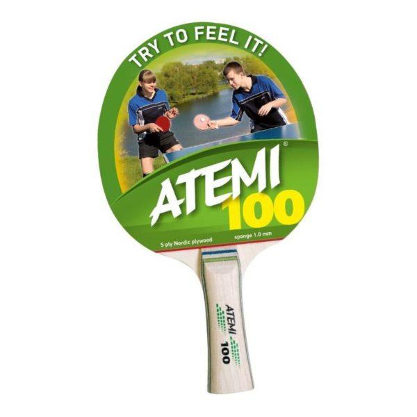 Rakietka do tenisa stołowego Atemi 100 cv - rączka wklęsła