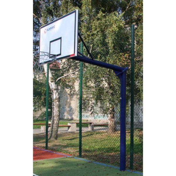 Stojak do koszykówki jednosłupowy, wysięgnik o dł. 1,6m - cynkowany i malowany