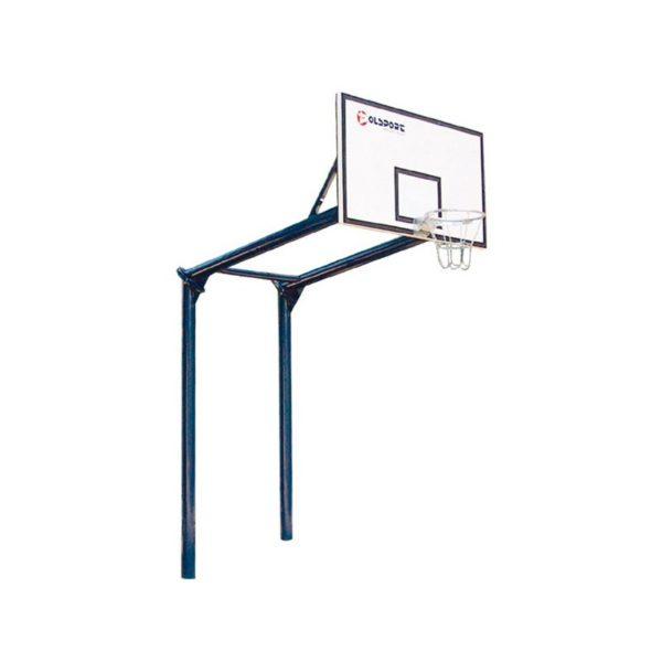 Stojak do koszykówki dwusłupowy, malowany, wysięgnik 1,6m