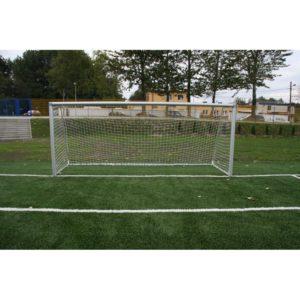 Bramka do piłki nożnej 7,32x2,44 m aluminiowa przenośna