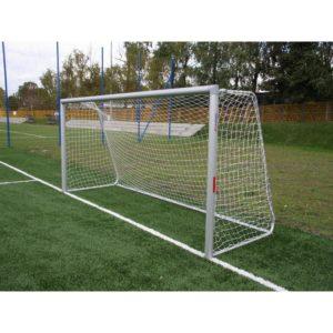 Bramka do piłki nożnej 7,32x2,44m aluminiowa z pałąkami, do tulei