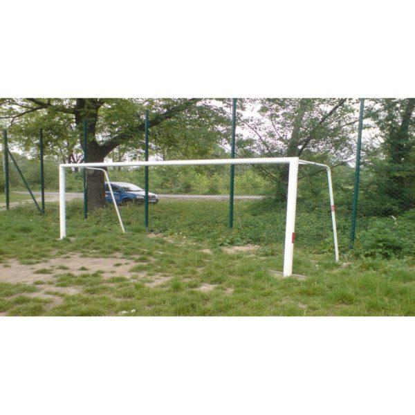 Bramka do piłki nożnej 5x2 m stalowa stała, cynkowana i malowana