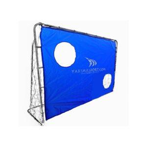 Bramka do piłki nożnej 215x150cm aluminiowa składana + mata treningowa