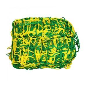 Siatka do piłki nożnej 3x2x1x1,5 m, PP 4 mm, żółto-zielona