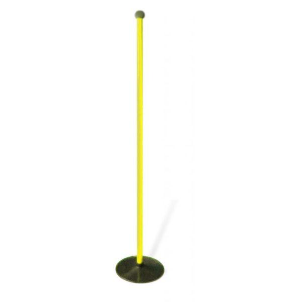 Tyczka do slalomu z podstawą gumową 1,2 m żółta