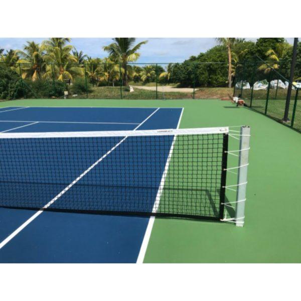 Siatka do tenisa ziemnego PP 4 mm czarna krawędzie wzmocnione