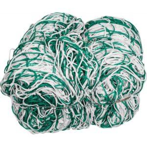 Siatka do piłki nożnej .PE 4 mm 7,5X2,5X gł.200/200-do bramki stacjonarnej biało-zielona