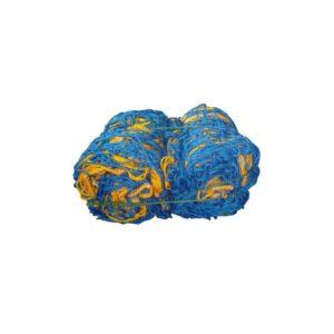 Siatka do pilki nożnej 7,5X2,5X 1,2X2 m PP/b 4 mm (do br.przenośnej) niebiesko-żółta