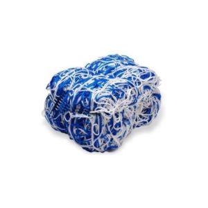 Siatka do piłki nożnej 7,5X2,5X 0,8X2 m PP/b 4 mm (do br.przenośnej) biało-niebieska