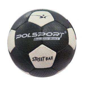 Piłka nożna na asfalt Polsport nr 5 czarno-biała