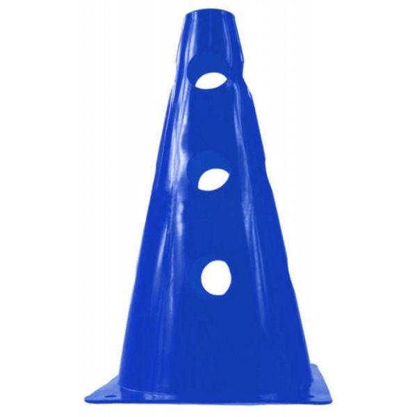 Pachołek 23 cm z otworami niebieski