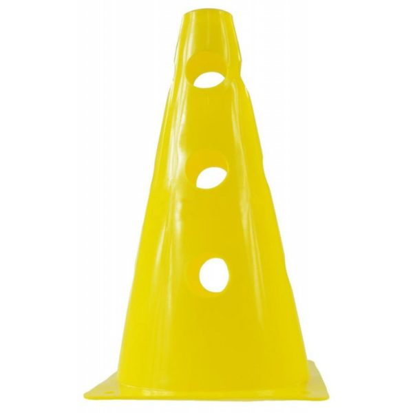Pachołek 23 cm z otworami żółty