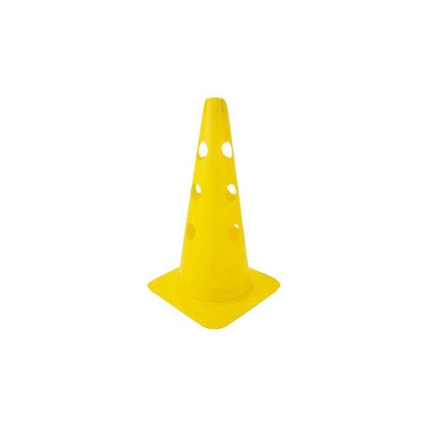 Pachołek 37,5 cm z otworami żółty