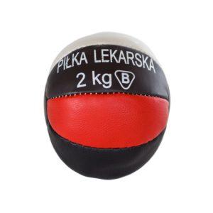 Polska piłka lekarsko-rehabilitacyjna ze skóry naturalnej waga 2kg